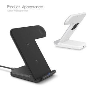 Image 3 - 2 In 1 şarj standı istasyonu için Apple izle 5 4 3 2 Airpods Qi kablosuz şarj standı telefon tutucu iPhone 11 XS Max XR X 8