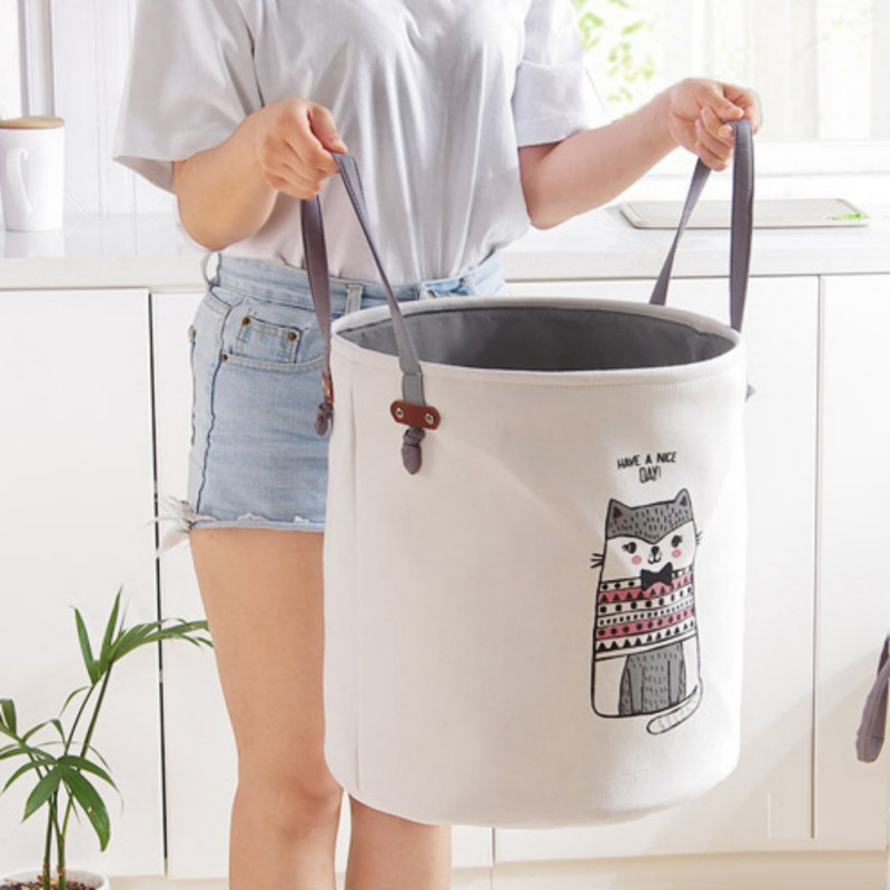 Storage Laundry Baskets Cloth Dirty Clothes Bucket Children Toy Storage Bucket Bow Tie Cat Elephant Dirty Clothes Storage Baske