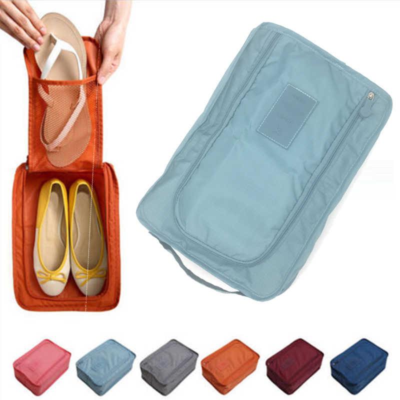 6 Colors Nylon Travel Shoes Box Organizer Laundry Shoes Sorting Pouch  Portable Organizer Storage Box Beach 7fa26f52a
