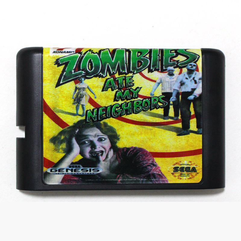 Top quality 16 bit <font><b>Sega</b></font> MD game <font><b>Cartridge</b></font> for Megadrive Genesis system --- Zombies Ate My Neighbors image