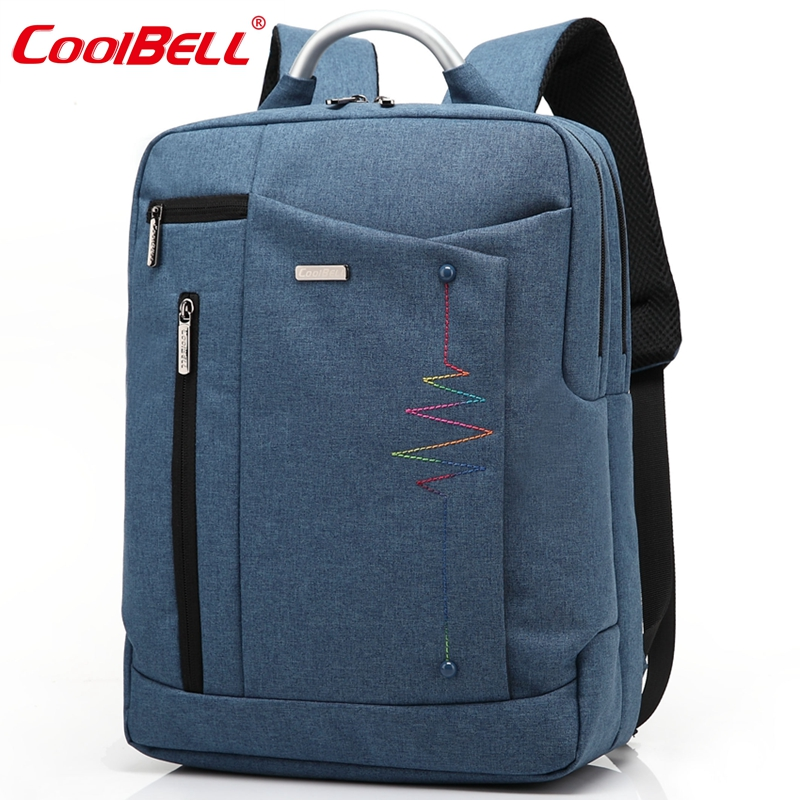 Cool Bell Brand Men Women Laptop Backpack 14.4/15.6 inch Notebook Computer Bag Waterproof School Bags for Teenagers Boys Girls kingsons brand men women laptop backpack 15 6 inch notebook computer bag designer school backpacks for teenagers boys girls
