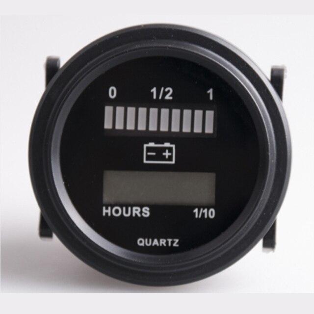 Круглый жк-счетчик со светодиодным индикатором батареи Датчик Датчик для гольфа трактор sweeper, для батареи 12 В 24 В 36 В 48 В 72 В
