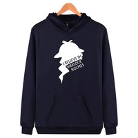 BBC TV Sherlock Printing Harajuku Sweatshirt And Autumn Style Hooded Arrived Sher Locked Plus Size Men