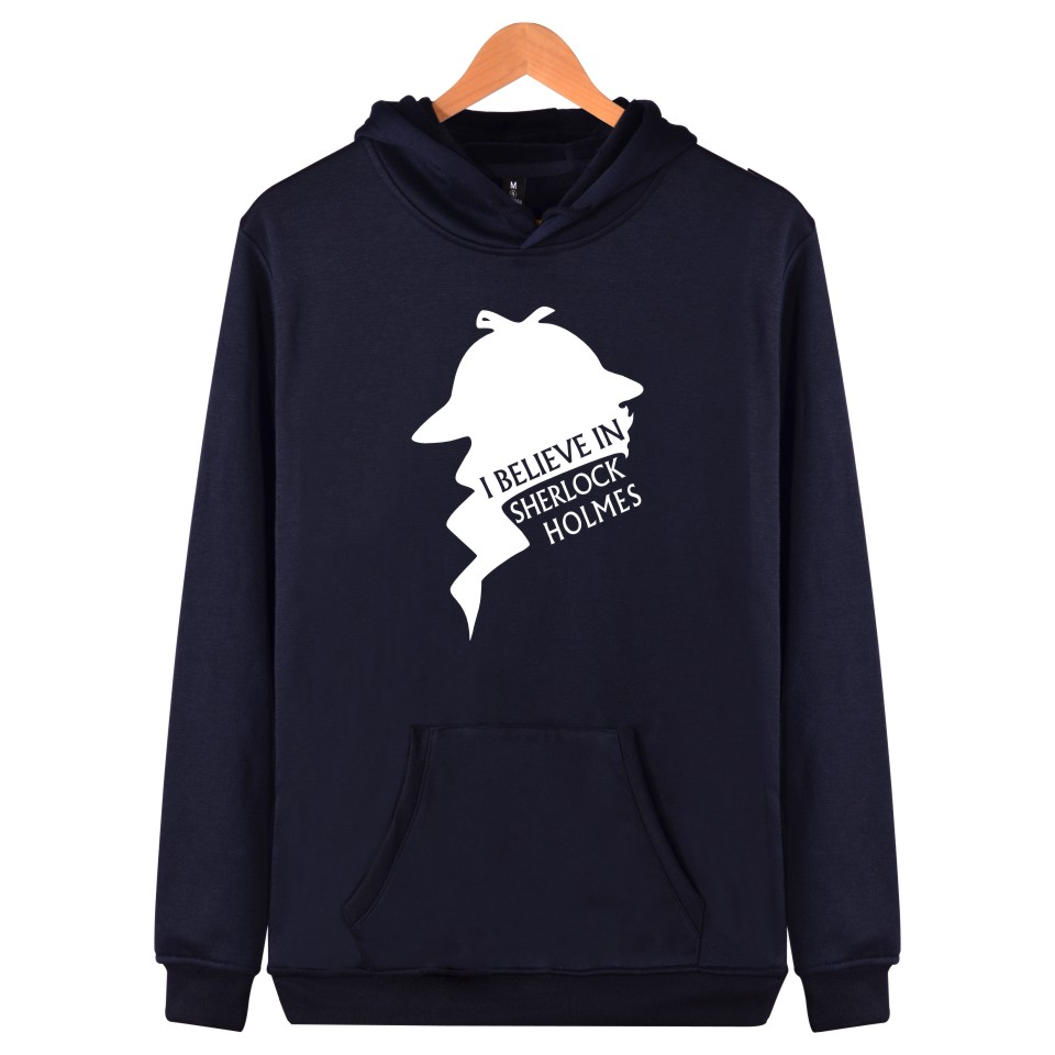 BBC TV Sherlock Printing Harajuku Sweatshirt And Autumn Style Hooded Arrived Sher Locked Plus Size Men  Clothes With Cap