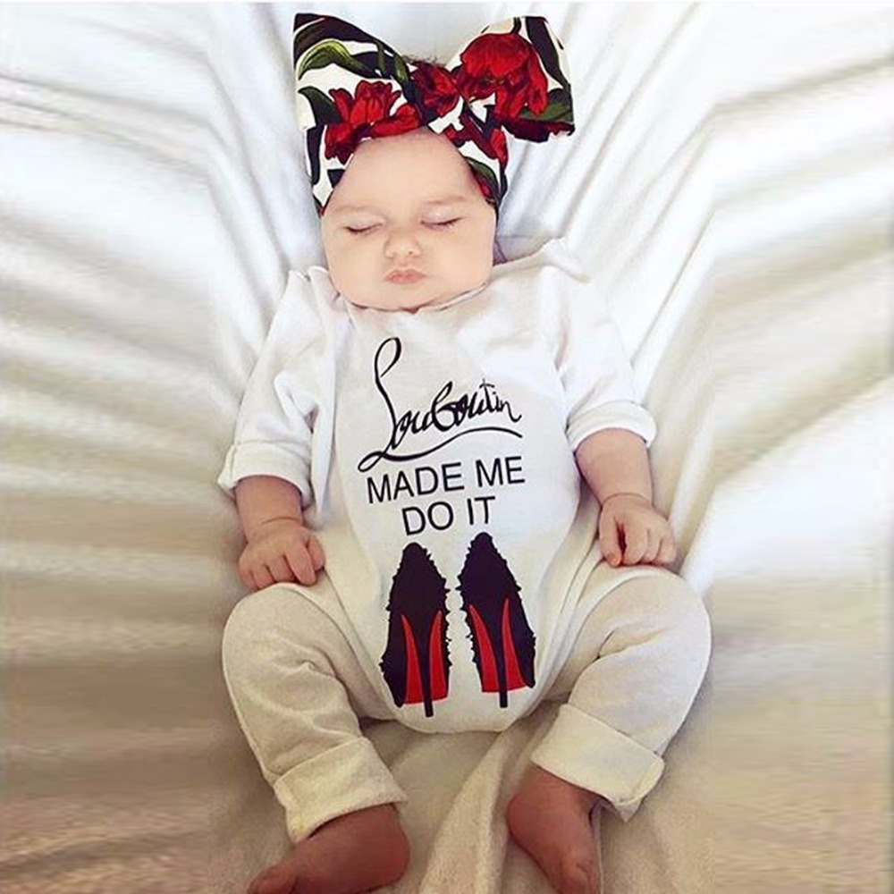 3e312d732ba3 Puseky Funny 2018 Autumn Cotton Newborn Baby Girl Boy Clothes High ...