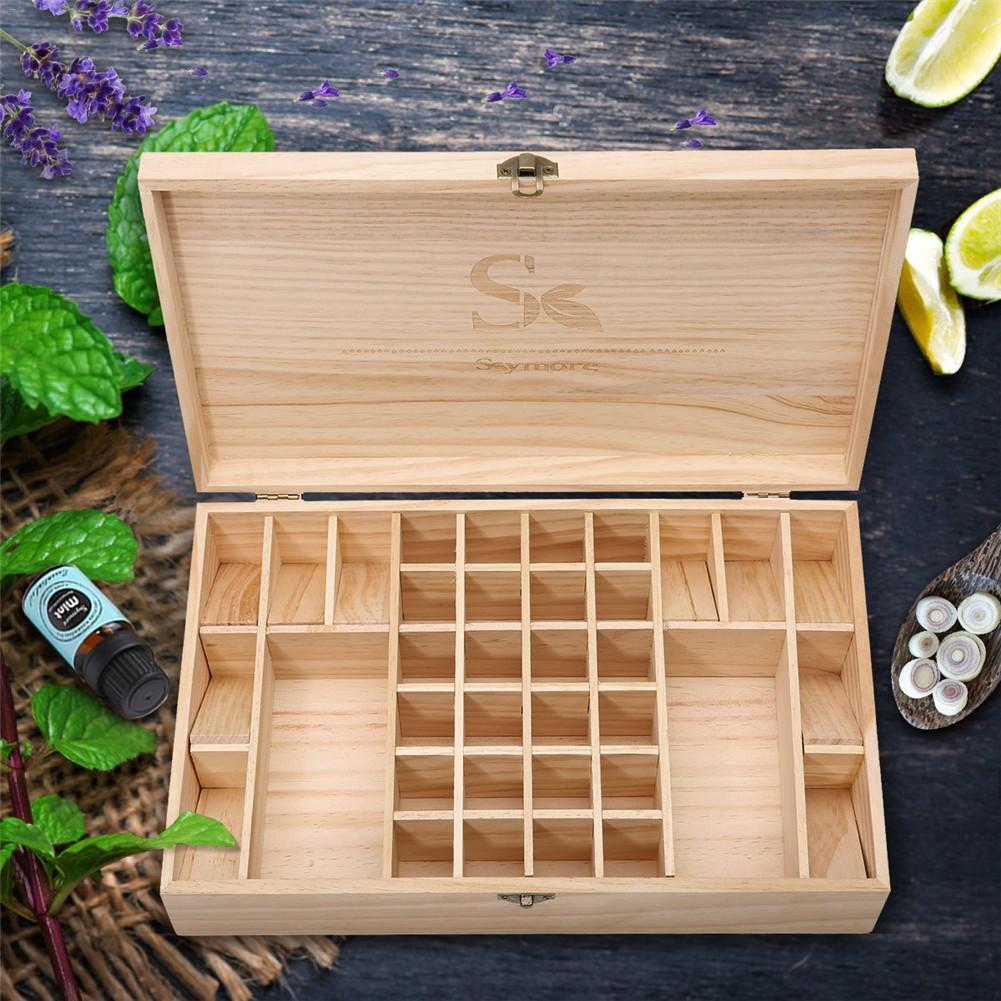 38 compartment Essential Oil Box Hand polished Wooden Essential Oil Storage Box Durable And Resistant To Corrosion in Storage Boxes Bins from Home Garden