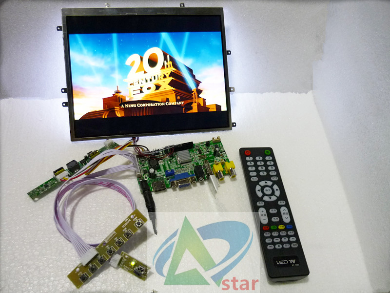 HDMI 2AV VGA Rear View Driver Board USB function audio output 9 7 inch LTN097XL01 1024