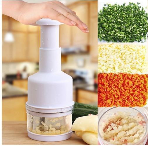Kitchen Gadgets Pressing Vegetable Onion Garlic Chopper Cutter Slicer Peeler Dicer Shredders Cooking Tools