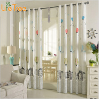 Мультяшные воздушные шары  занавески для детской комнаты  корейский стиль  занавески для гостиной  занавески для спальни  занавески для про...