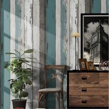 Vintage Holz Streifen Tapete Moderne Einfache Wohnzimmer Schlafzimmer Studie Wohnkultur PVC Selbst Adhesive Wasserdichte Wand Aufkleber Rollen