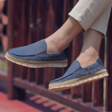 Rommedal Summer Mens Vulcanized Casual Shoes Slip on Canvas Soft Comfortable male walk Drive Footwear Zapatos De Hombre