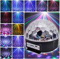 Leadleds Music Crystal Magic Ball RGB 6W*3 LED Stage Light Disco Nightclub Party Strobe Lights DJ Lighting with Remote