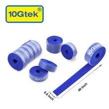 11 шт синий многоразовый кабель крючок для скрепления ремней и петли крепежный кабель перевязочная проволока организатора для дома, офиса, стол, ПК, ТВ