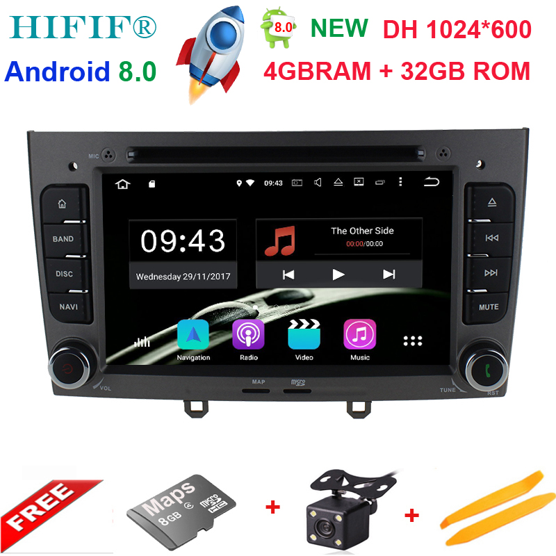4GB RAM Octa Core <font><b>Android</b></font> <font><b>8.0</b></font> Multimedia Car DVD Navigation For <font><b>peugeot</b></font> 408/<font><b>308</b></font>/308SW Autoradio Stereo headunit Support OBD DAB+ image