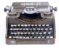 Iron Antique Imitation Typewriter In Films Creative Home Craft Ornaments High Quality Cool Decoration For Coffee Shop Bar L241