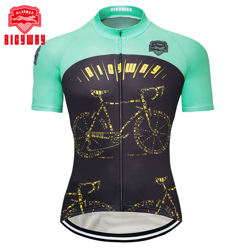 aa8224932 Aliexpress.com   Buy Bicyway 2018 Breathable Cycling Jersey Summer Mtb  Bicycle Short Clothing Ropa Maillot Ciclismo Sportwear Bike Clothes from  Reliable ...