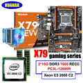 Brand mobo HUANAN ZHI deluxe X79 motherboard with M.2 NVMe slot discount motherboard bundle CPU Xeon E5 2660 C2 RAM 32G(2*16G)