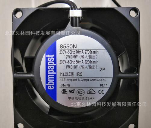 Ventilateur axial d'origine ebmpap8550N EBM ventilateur 8038 230 V 11 W