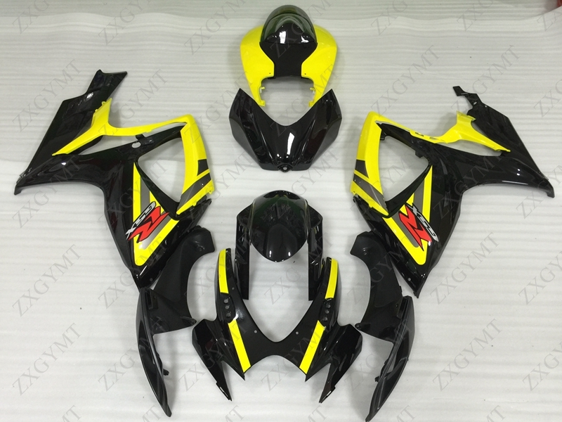Full Body Kits GSX R 600 2006 - 2007 K6 Black Yellow Fairings GSX R 750 06 Body Kits GSXR 750 07Full Body Kits GSX R 600 2006 - 2007 K6 Black Yellow Fairings GSX R 750 06 Body Kits GSXR 750 07