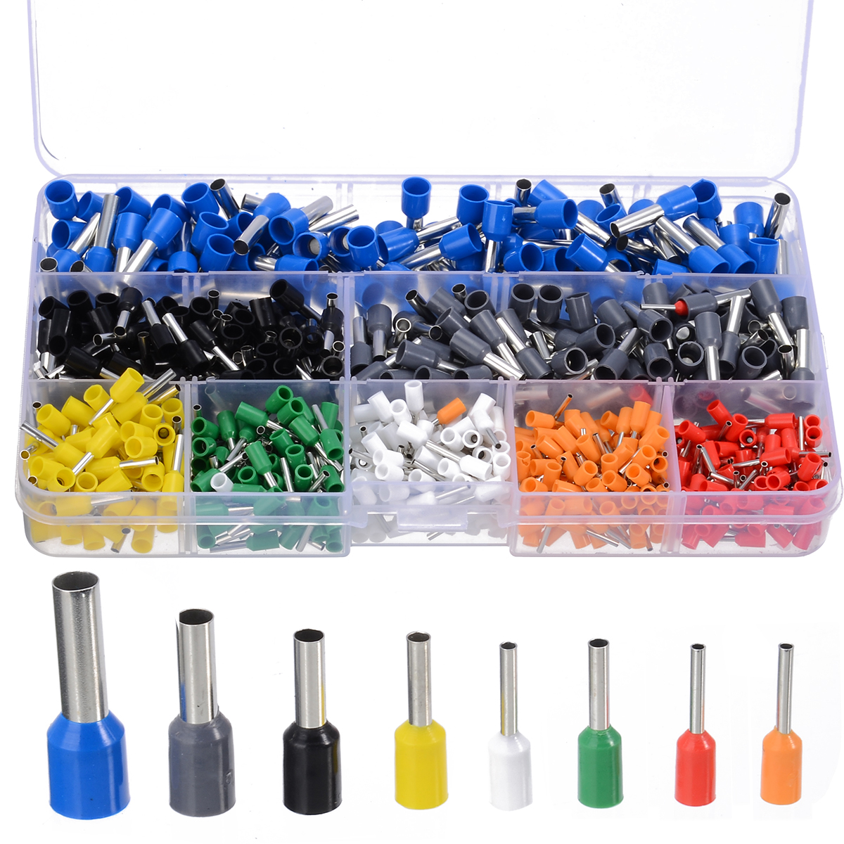 Image 3 - 800pcs Cable Wire Terminal Connector with Hand Ferrule Crimper Plier Crimp Tool Kit Set AWG 10 23-in Terminals from Home Improvement