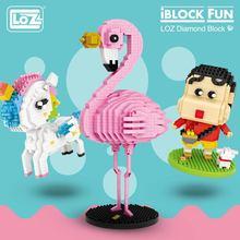 LOZ ensemble de blocs de diamants, figurine daction, Kawaii, Mini blocs de construction, briques, jouets éducatifs pour enfants, cadeau