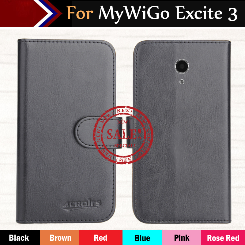 Hot!! In Stock MyWiGo Excite 3 Case 6 Colors Ultra-thin Dedicated Leather Exclusive For Phone Cover+Tracking