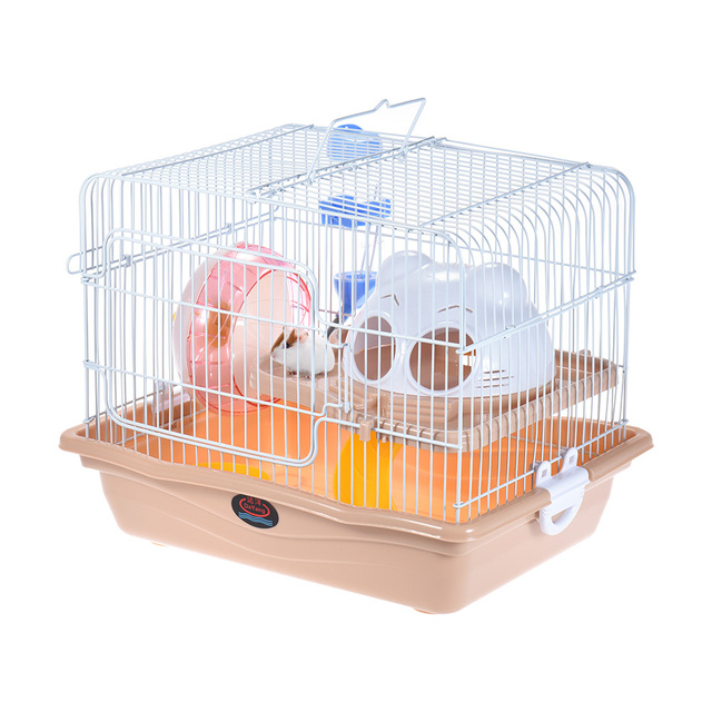 Small Animal Hamster Mouse Rat Cage Habitat House Hideout Playground 2 Story Feeder Water Bottle