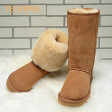 2016 Женские ботинки в австралийском стиле зимние ботинки на натуральной овчине 100% натуральный зимние ботинки на меху теплая шерсть зимние сапоги