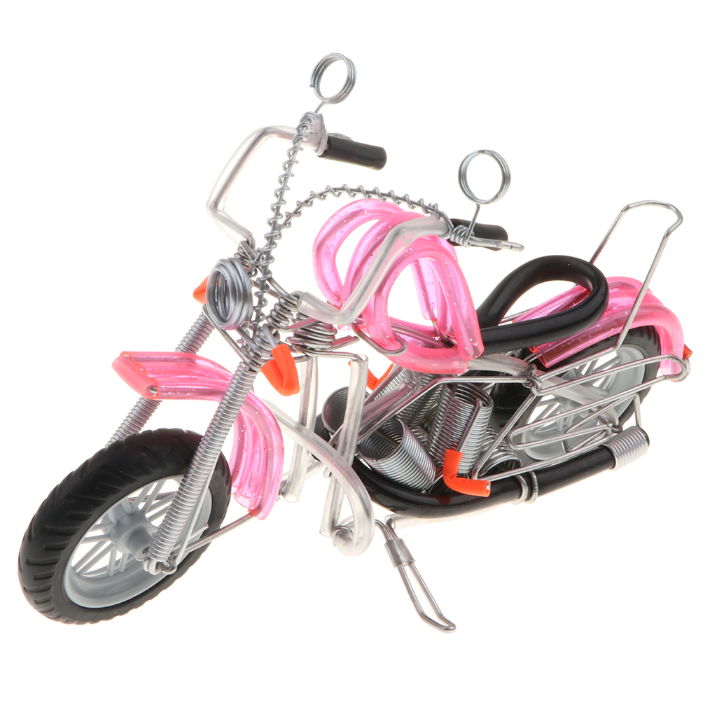 Metal Motorcycle Model Art Craft Gift For Harley Motorcycle Lovers Pink