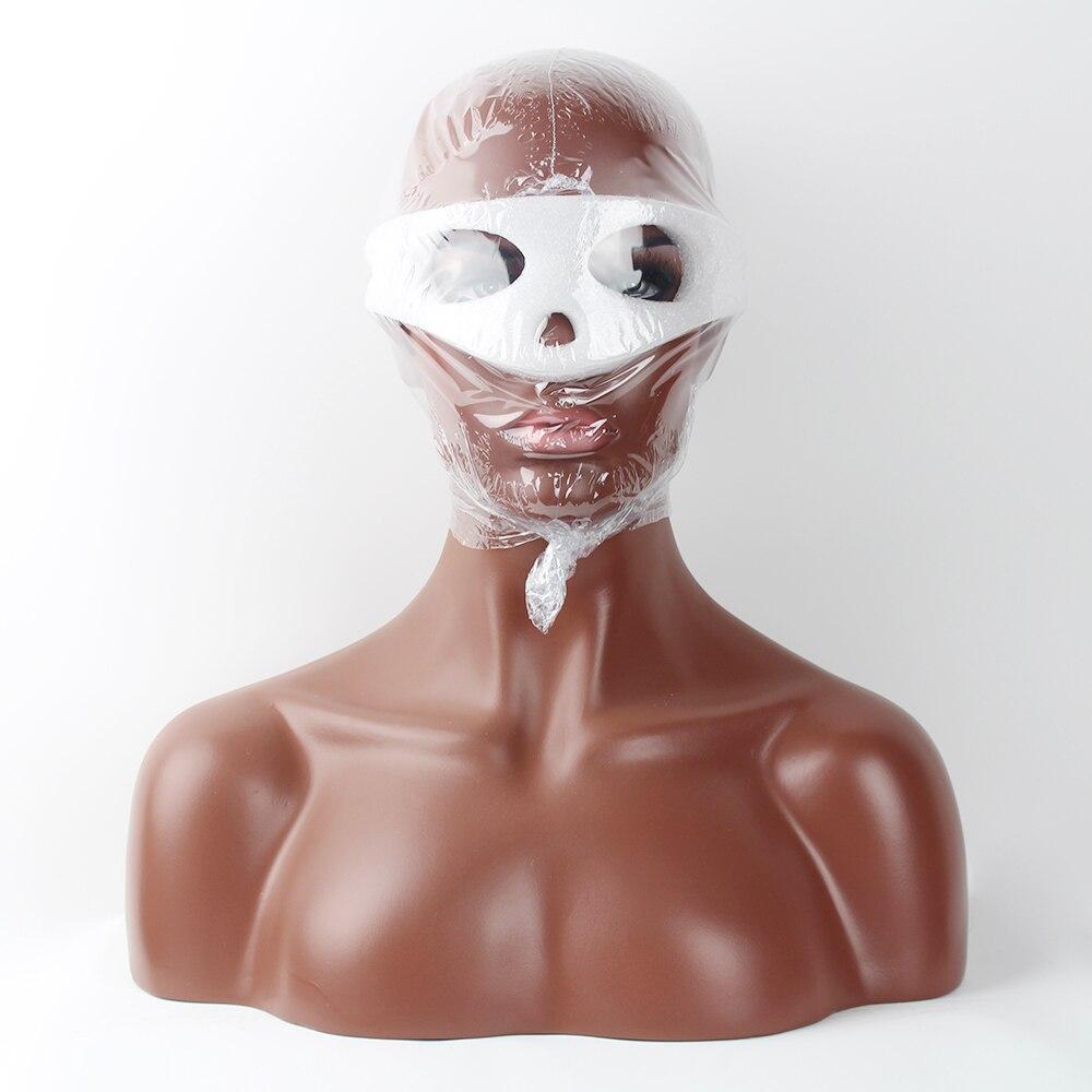 Реалистичные оптоволоконные Афро-американский манекен голова бюст для парики шнурка
