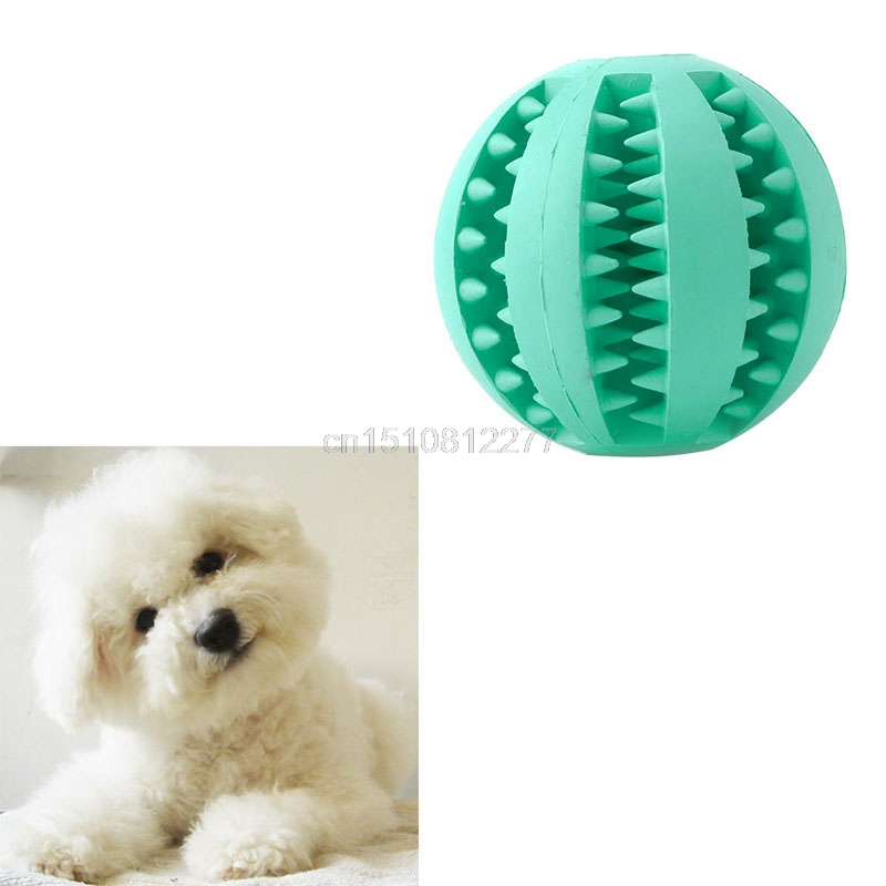 1PC Dog Ball Toys Pet Dog Play Squeaky Squeaker Quack Sound Chew Treat Pet Supplies Funny Leaking Food Ball Toy M10 dropshipping