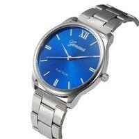 Watch Men Erkek Kol Saati Bling Fashion Crystal Stainless Steel Analog Quartz Wrist Watch Relojes Hombre