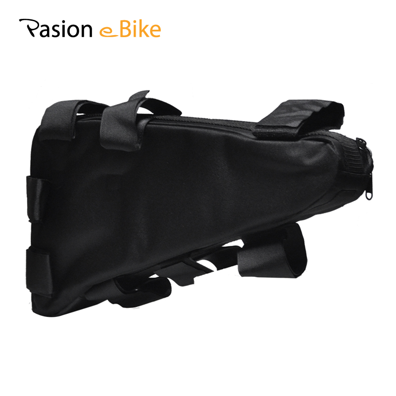 PASION E BIKE Waterproof Electric Bicycle Triangle Battery Bag Black Bicycle Pack Bicycle Frame Triangle Outdoor Bags MTB Pouch pasion e bike 52v battery lg cell electric bicycle li ion battery hailong 52v 12 8ah deep cycle lithium battery with 2a charger