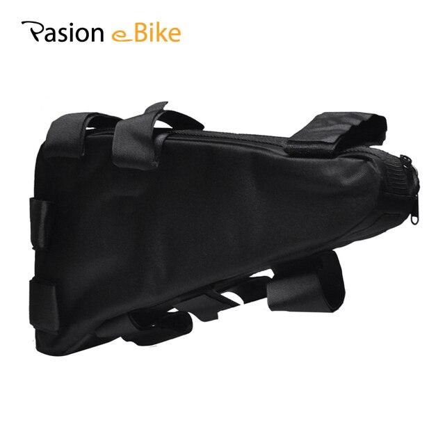 PASION E велосипед водостойкий Электрический велосипед треугольная батарея сумка черный велосипедный пакет велосипедная Рама треугольник наружные сумки велосипедная сумка