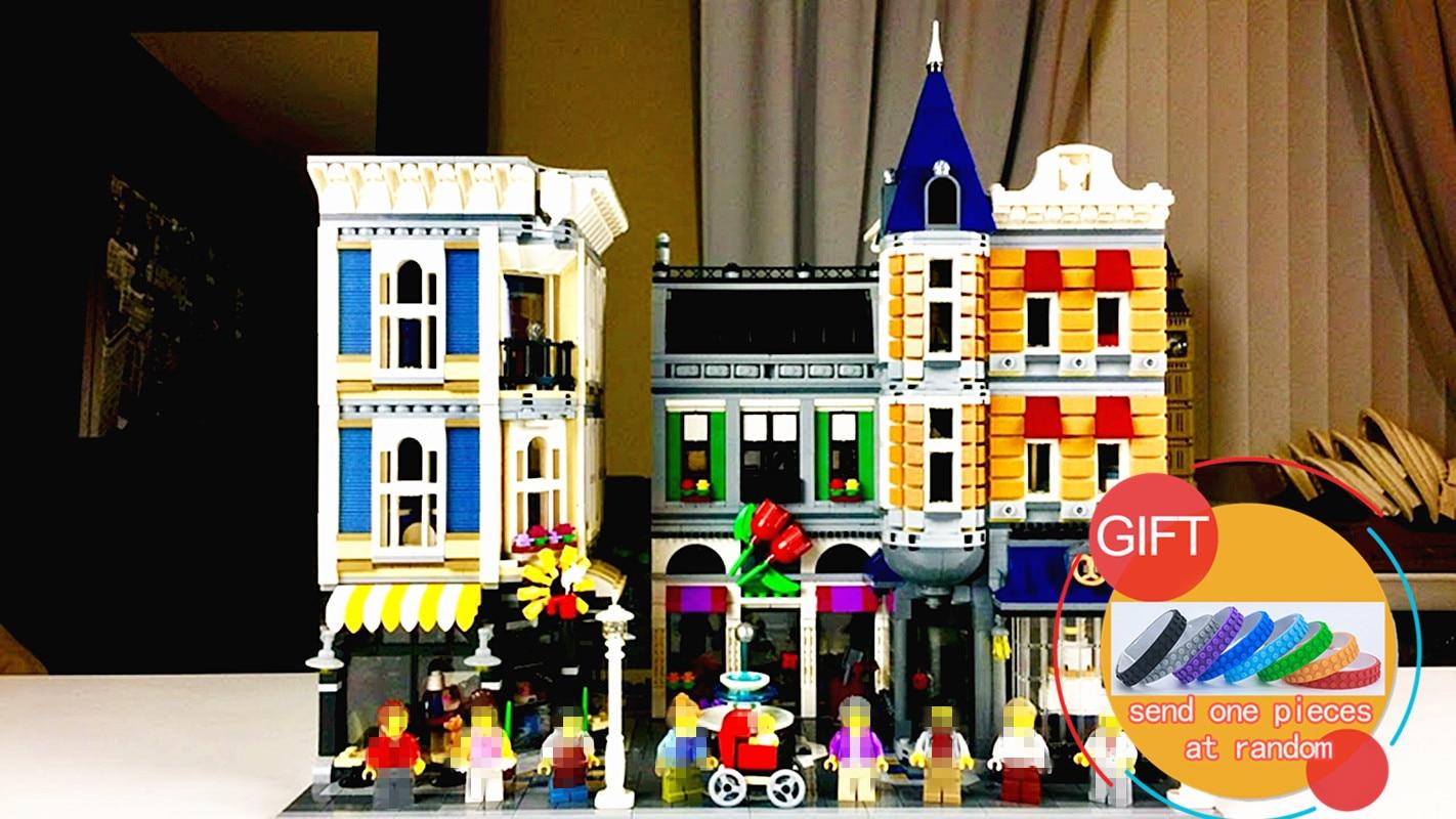 15019 4002pcs MOC Creative Creator Series The Assembly Square Set Buildings Toy Small piece 10255 toys lepin loymina обои loymina 4002 laс4 002