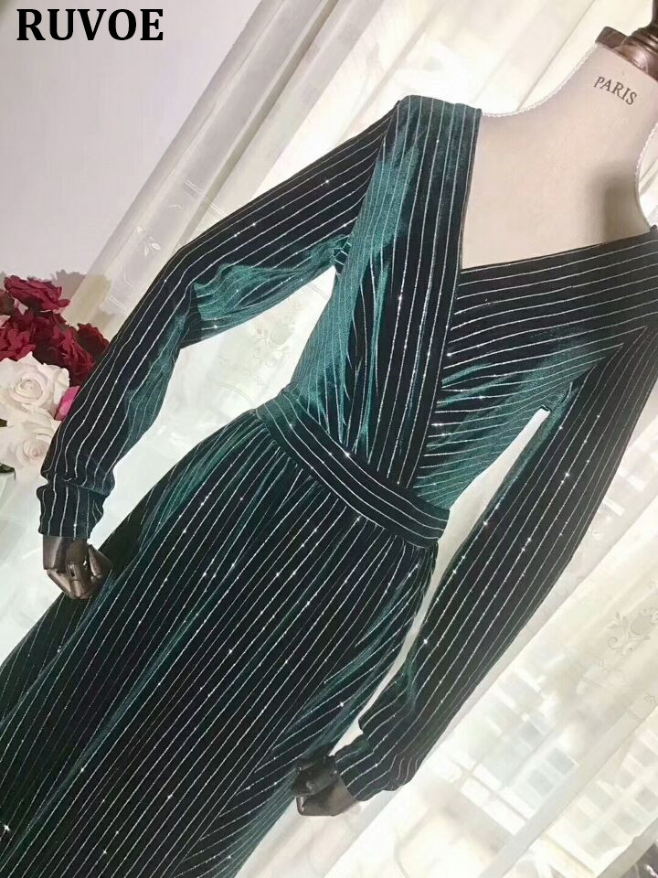 d39cb04fecab3 Detail Feedback Questions about HIgh Quality Women Winter Maxi Dresses  Elegant Velvet Dress Red Blue Green Black Vintage Warm Dress Long Sleeve  Vestidos ...