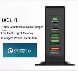 Image 3 - 75W Quick Charge 3.0 USB Type C PD Power Adapter Phone Charger For iphone Huawei Macbook Air Samsung Tablet Fast USB Charge