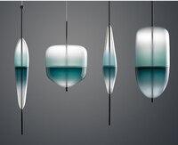 Modern LED Glass Pendant Lamps Venice design Flow T Lake Blue glass pendant light