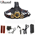 Z50 White light 7000 lumens T6+2R5 LED Headlamp headlight XM-L T6 front head lamp Bright head headlight