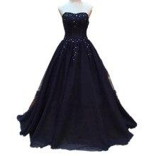 Echt Bild Royal Blue Abendkleider Pageant Kleid Eine Linie Schatz-wulstige Spitze Appliques Vestido De Festa Formale Kleider