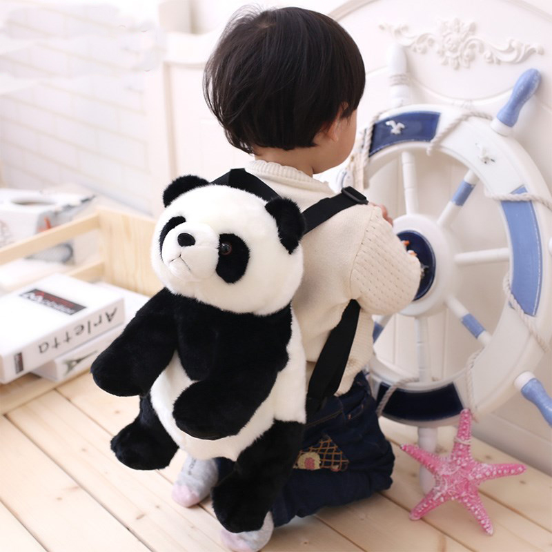 Panda Baby Backpack Children Small Book Baby Plush Doll Cartoon Bag Birthday Gift Cute Toy Kids cute cartoon plush toy backpacks