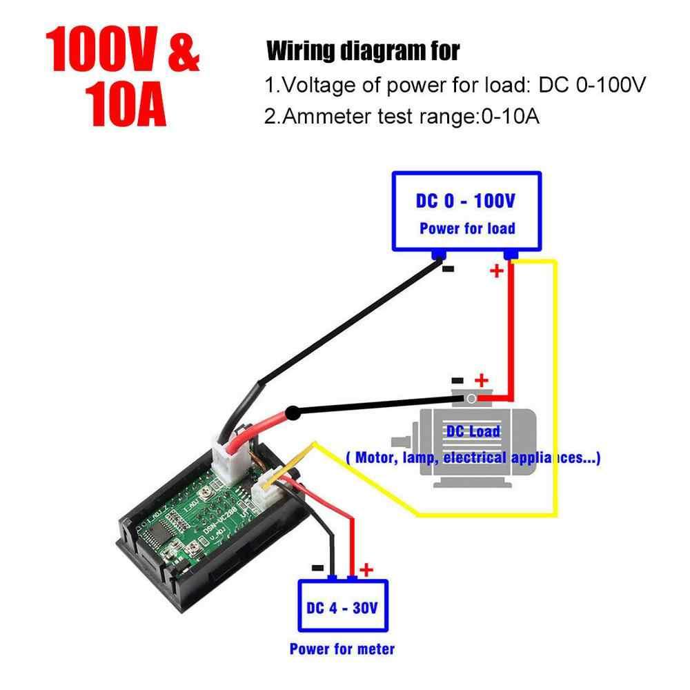 shunt rouge installation électrique-couteau Digital Amp DC Ampèremètres LED 0,2-10a incl