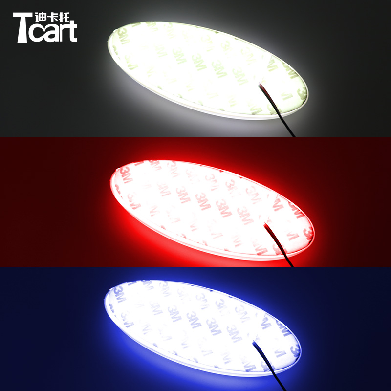 Tcart 4D led car emblem badge light for Ford focus 2 3 Kuga Fusion Fiesta Escape Ranger Mustang Mondeo Galaxy Badge Logo Light image