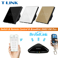 TLINK Broadlink EU Standard 3 Gang Touch Switch LED 220V Waterproof Tempered Home Wall Switch Remote