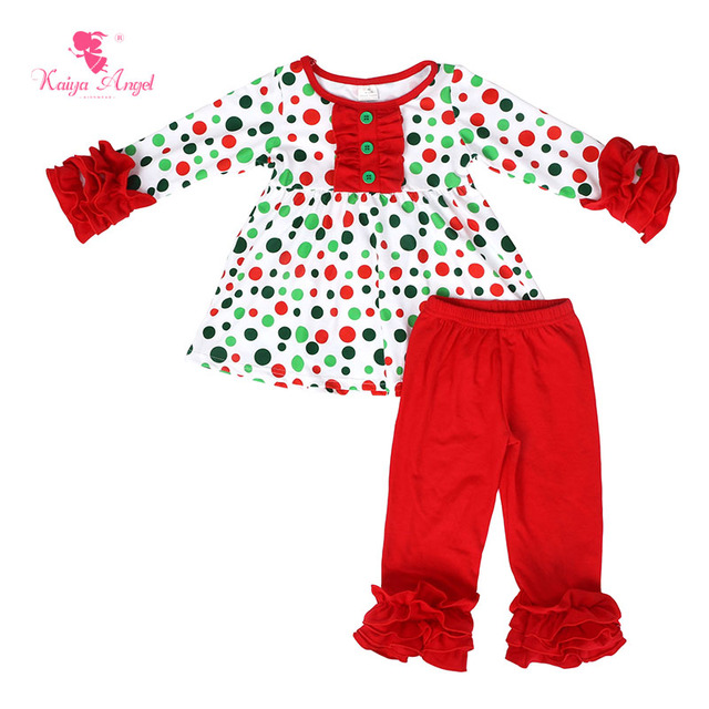 3d1265fdbdcc 2018 Hot Toddler Kids Wholesal Children Fall winter Clothing Girls Kaiya  Angel Boutique Outfits Halloween Birthday Pajamas Set