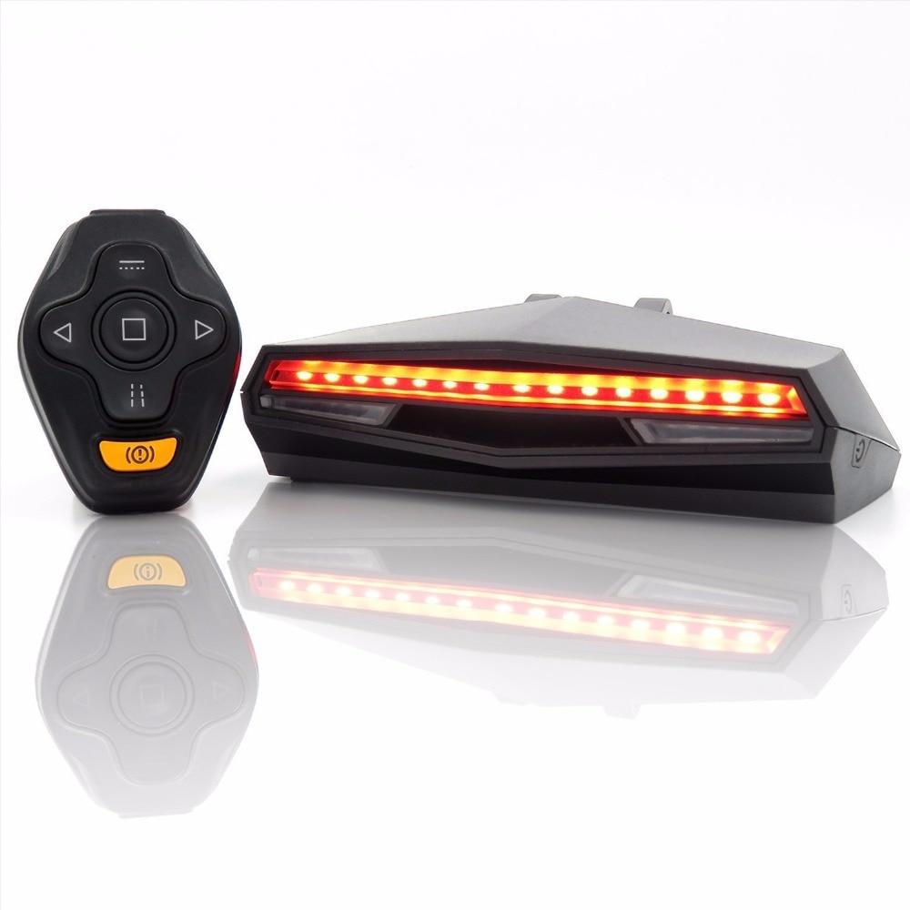 Luz trasera de bicicleta luz trasera bicicleta Control remoto inteligente luz de señal de giro accesorios de bicicleta luz trasera de bicicleta MTB