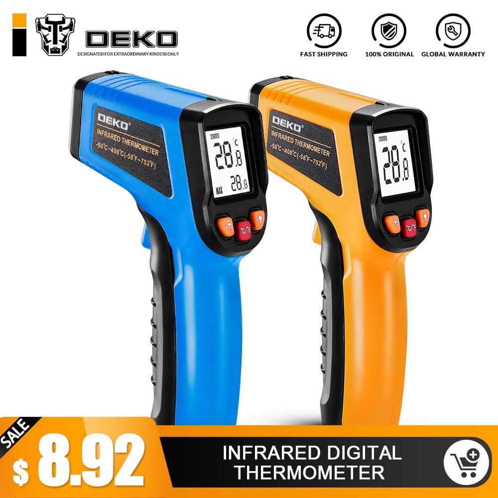 DEKO WD01 láser sin contacto LCD IR infrarrojo Digital C/F selección superficie temperatura termómetro pirómetro Imager