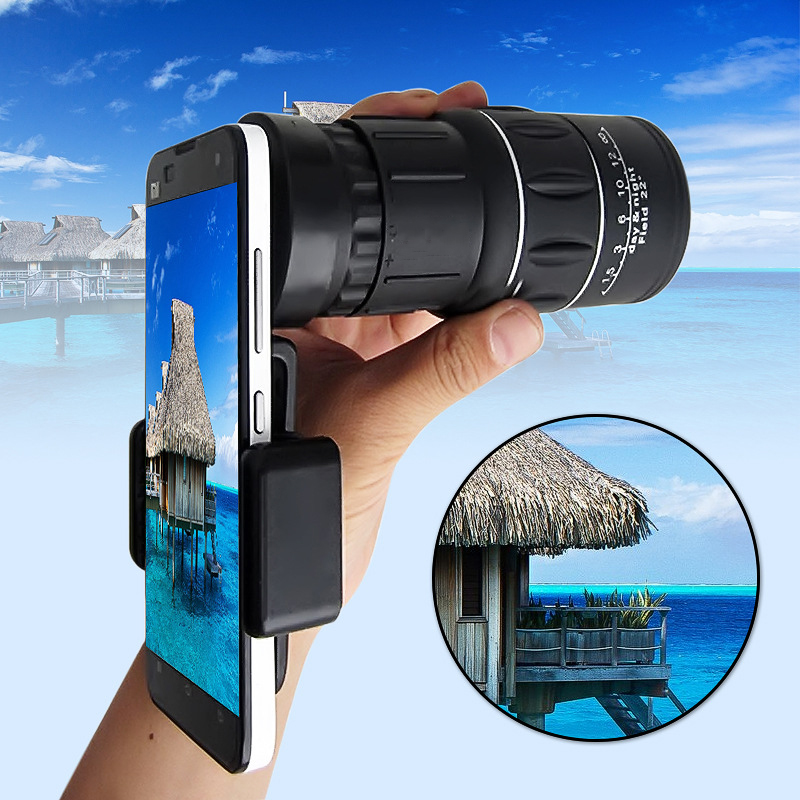 Smartphones Universal 18x telescope zoom mobile phone lens telephoto For iPhone X 8 6 Plus xiaomi redmi huawei p20 clips lenses
