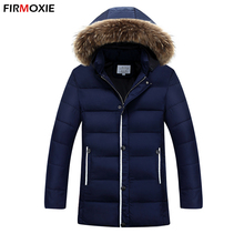 Fasion Winter Long Jackets Men Casual Hooded Parkas Warm Cotton-Padded Clothing Men's Thickening Coats Outwear Hummer Plus Size