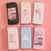 PINK-PANTHER New Leather Long Women Wallet Female Zipper Org